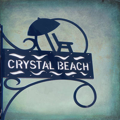 Photograph - Crystal Beach Sign by Leslie Montgomery