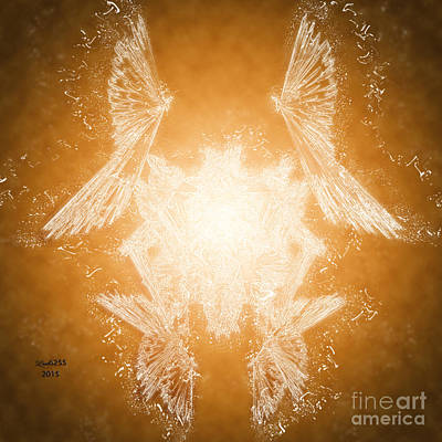 Digital Art - Crystal Bird by Melissa Messick