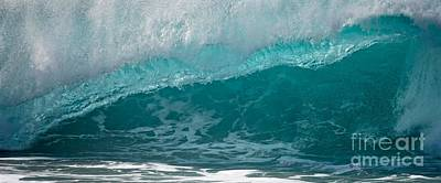 Hawaiin Photograph - Crystal Blue Wave Haleiwa by Debra Banks