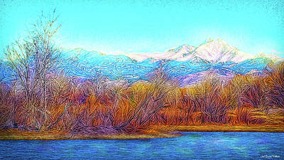 Digital Art - Crystal Blue Winter Day by Joel Bruce Wallach