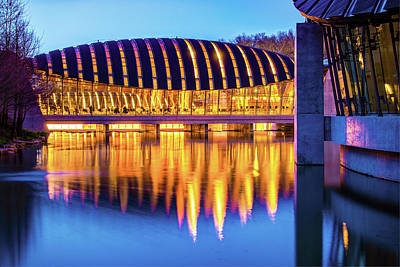 Photograph - Crystal Bridges Museum Reflections - Bentonville Arkansas by Gregory Ballos