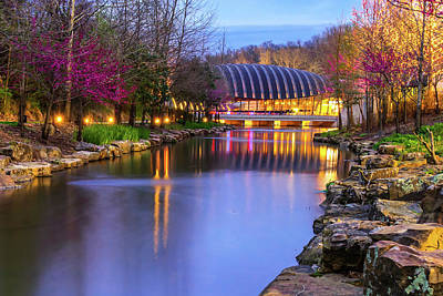 Photograph - Crystal Bridges Art Museum In Spring - Arkansas by Gregory Ballos
