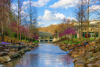 Photograph - Crystal Bridges In Spring And Blue Skies by Gregory Ballos