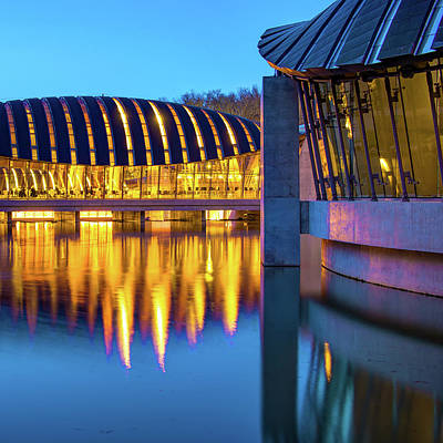 Photograph - Crystal Bridges Museum Architecture - Bentonville Northwest Arkansas by Gregory Ballos