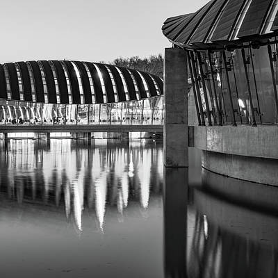 Photograph - Crystal Bridges Museum Architecture - Black And White - Bentonville Northwest Arkansas by Gregory Ballos