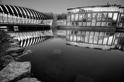 Photograph - Crystal Bridges Museum - Black And White - Bentonville Arkansas  by Gregory Ballos