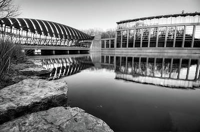 Reflection Photograph - Crystal Bridges Museum - Black And White Edition - Bentonville Arkansas by Gregory Ballos