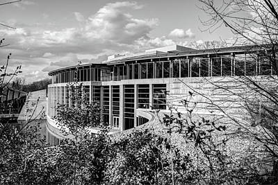 Photograph - Crystal Bridges Museum Of American Art - Black And White by Gregory Ballos