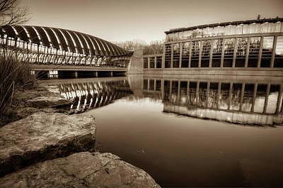 Photograph - Crystal Bridges Museum - Sepia Edition - Bentonville Arkansas by Gregory Ballos