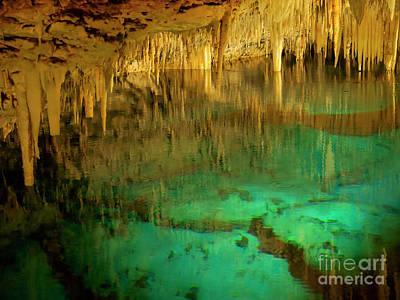 Photograph - Crystal Cave Hamilton Parish Bermuda by Louise Heusinkveld