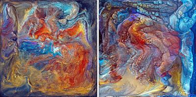 Crystal Caves - Diptych Art Print by Paul Tokarski