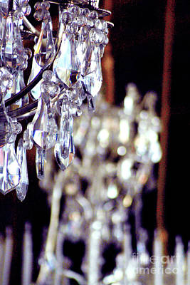 Paris Photograph - Crystal Chandelier Close Up by D Renee Wilson