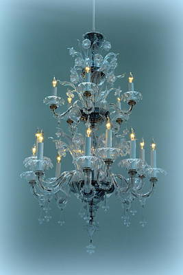 Photograph - Crystal Chandelier by Lori Seaman