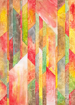 Painting - Crystal Colors Watercolor by Kristen Fox