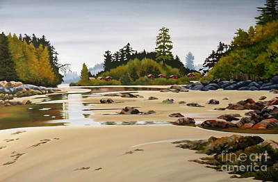 Painting - Crystal Cove Bay by Elissa Anthony