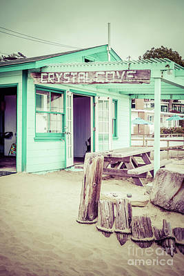 Crystal Cove Photograph - Crystal Cove Green Cottage #46 Sign Picture by Paul Velgos