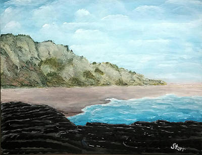 Laguna Beach Painting - Crystal Cove Laguna California by Irving Starr