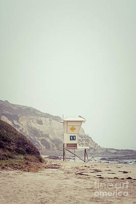 Crystal Cove Photograph - Crystal Cove Lifeguard Tower #11 Retro Picture by Paul Velgos