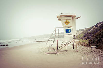 Eleven Photograph - Crystal Cove Lifeguard Tower 11 Vintage Picture by Paul Velgos