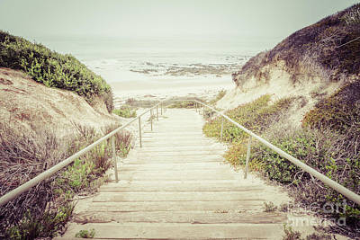 Crystal Cove Photograph - Crystal Cove Stairs In Laguna Beach California by Paul Velgos