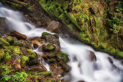 Photograph - Crystal Creek Cascade 2 by Charlie Duncan
