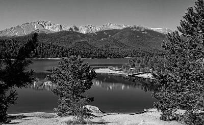 Photograph - Crystal Creek Reservoir Black And White by Judy Vincent