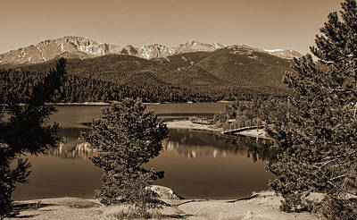 Photograph - Crystal Creek Reservoir In Sepia by Judy Vincent