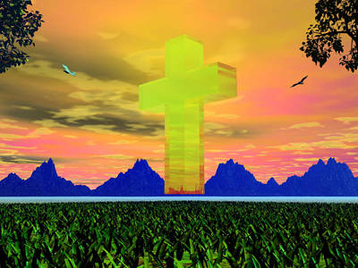 Photograph - Crystal Cross by Mark Blauhoefer