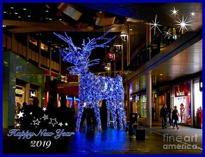 Photograph - Crystal Deer Xmas Greeting by Joan-Violet Stretch