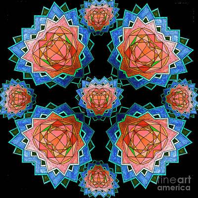 Mixed Media - Crystal Flowers by Jesus Nicolas Castanon