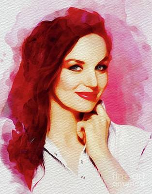 Music Paintings - Crystal Gayle, Music Legend by Esoterica Art Agency