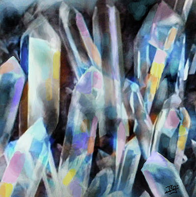 Digital Art - Crystal Guardians by Jean Batzell Fitzgerald