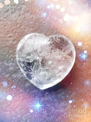 Photograph - Crystal Heart by Rachel Hannah
