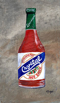 Pepper Painting - Crystal Hot Sauce by Elaine Hodges
