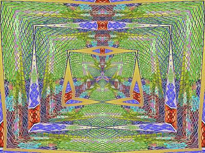 Digital Art - Crystal Kaleidoscope Way by Tim Allen