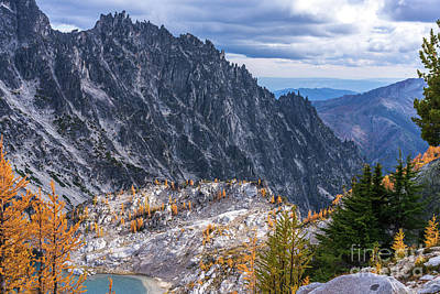 Photograph - Crystal Lake And Enchantment Pass by Mike Reid