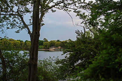 Photograph - Crystal Lake Bath House Through The Trees Newton Ma by Toby McGuire