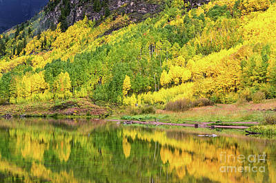 Photograph - Crystal Lake Co In Fall Splendor by Tibor Vari