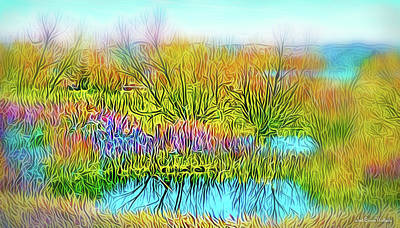 Digital Art - Crystal Lake Day by Joel Bruce Wallach