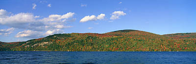 Vermont Wilderness Photograph - Crystal Lake In Autumn, Vermont by Panoramic Images