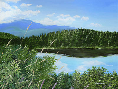 Painting - Crystal Lake by Richard De Wolfe