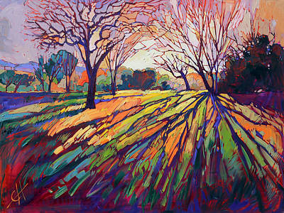 Tree Oil Painting - Crystal Light by Erin Hanson