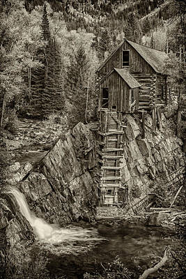 Photograph - Crystal Mill Marble Colorado Sepia Dsc06944 by Greg Kluempers