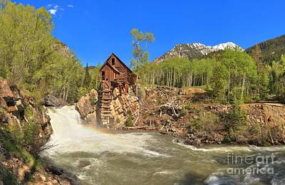 Photograph - Crystal Mill Panorama by Adam Jewell
