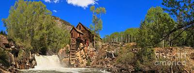 Photograph - Crystal Mill Panoramic View by Adam Jewell