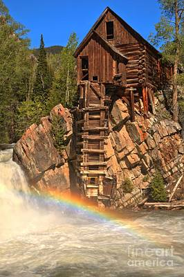 Photograph - Crystal Mill Rainbow by Adam Jewell