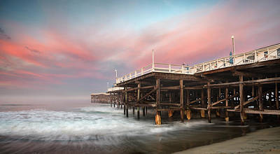 Photograph - Crystal Pier Colorful Morning by William Dunigan
