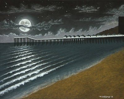 Pastel - Crystal Pier Moon 01 by Michael Heikkinen