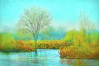 Digital Art - Crystal Pond Awareness by Joel Bruce Wallach