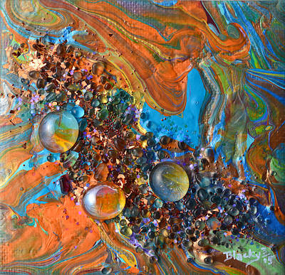 Mixed Media - Crystal Reef Of The Keys by Donna Blackhall
